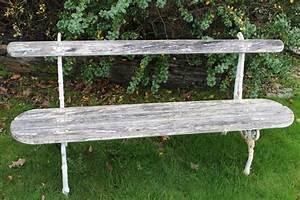 Banc De Jardin En Fonte : banc de jardin ancien avec assise sapin et pietement en fonte ~ Farleysfitness.com Idées de Décoration