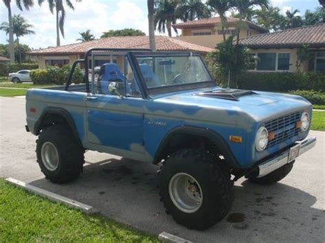 old bronco jeep buy used 1973 ford bronco original paint offroad classic