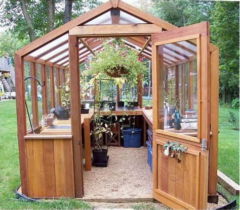 small wooden greenhouse backyard greenhouse wooden