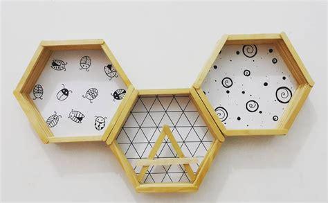 Rak Dinding Hexagonal 41 model rak dinding minimalis modern terbaru 2019 dekor