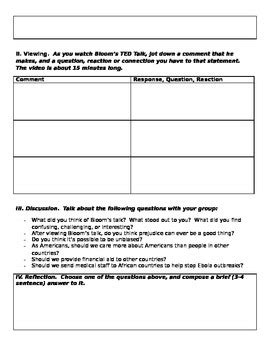 paul bloom ted talk worksheet is prejudice a