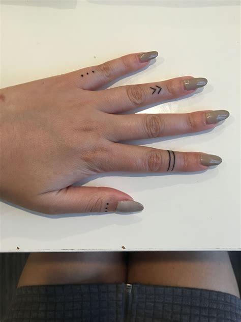 finger tattoos  dots warrior band chevron tattoo