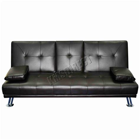canapé lit moderne faux cuir manhattan sofa lit fauteuil inclinable 3 seater