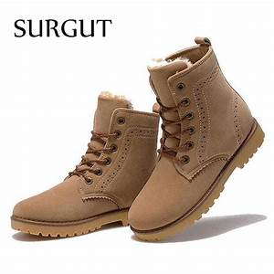 SURGUT Brand 2017 Fashion Winter Shoes For Men Suede pu ...