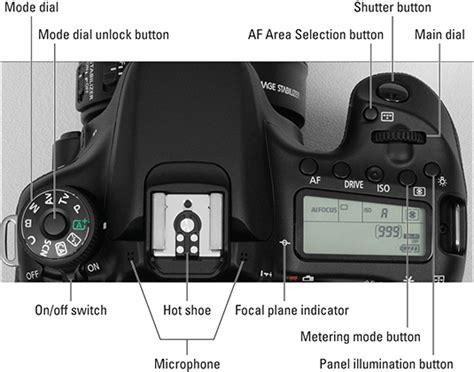 canon eos  camera layout dummies