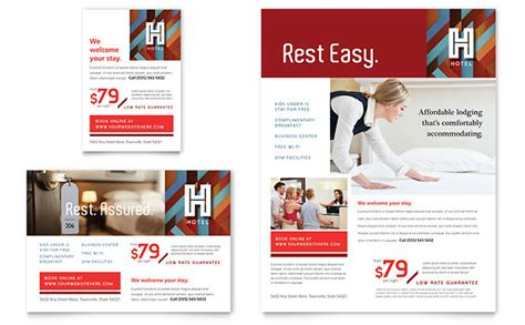 hotel flyer ad template design