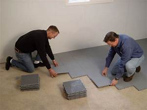 Cold floors over basements how to create a warmer floor for How to insulate a concrete basement floor
