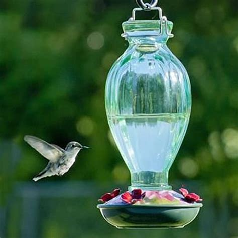 duncraft com fluted glass hummingbird feeder