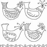 Folk Bird Embroidery Drawings Mexican Birds Queeky Coloring Pages Drawing Patterns Template Flowers Hungarian Bark Pattern Flower Draw Minniemouse Bing sketch template