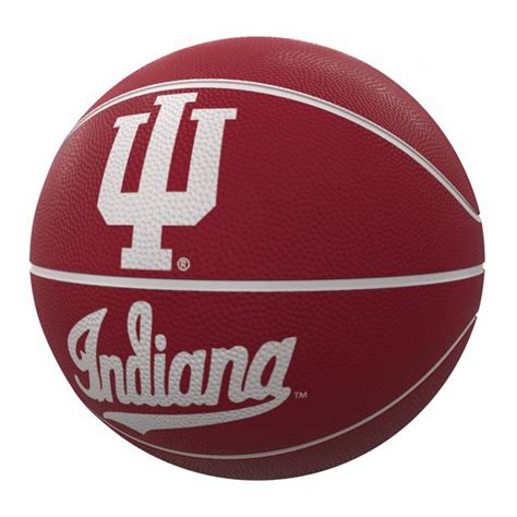 indiana hoosiers mascot official size rubber basketball