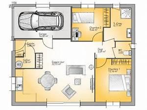 plan maison 70m2 plein pied systembaseco With plan maison 70m2 plein pied
