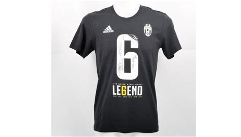 juventus scudetto t shirt signed by players charitystars