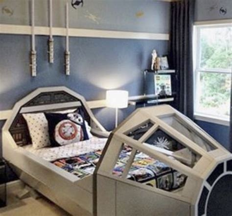 The Millennium Falcon is the ULTIMATE bed for a Jedi-in