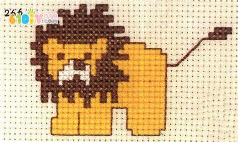 狮子十字绣图案 十字绣艺 巧巧手幼儿手工网