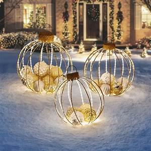 Christmas, Holiday, Ornament, Decorations, Set, Of, 3, Yard, Outdoor, Decoration, Pre