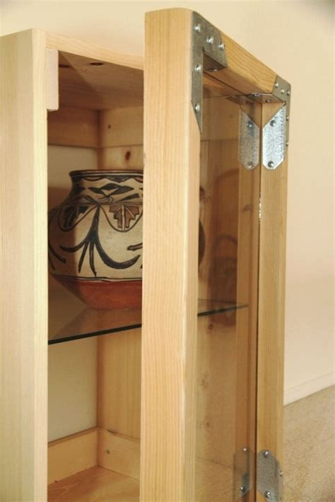 Custom Glass Cabinet Doors by Crafted Small Cabinet With Glass Door By Catapult