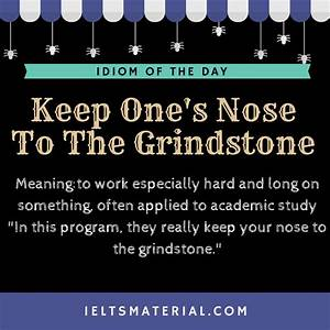 Keep One's Nose To The Grindstone