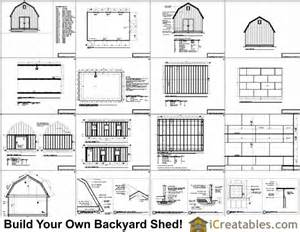 16x20 gambrel shed plans 12x16 barn shed plans