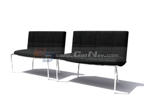 hospital stainless steel waiting chair 3d model 3dmax 3ds