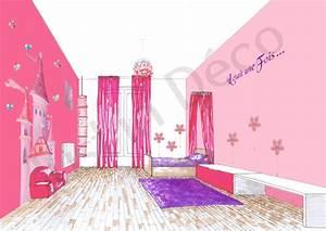 Deco Chambre Fille Princesse : chambre fille princesse solutions pour la d coration ~ Teatrodelosmanantiales.com Idées de Décoration