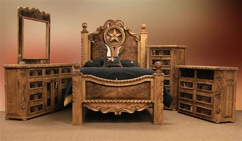 Rustic Cowhide Furniture by Furniture Rope And Rustic Bedroom Set With