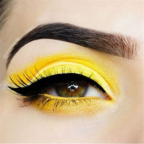 yellow eye makeup ideas  pinterest yellow