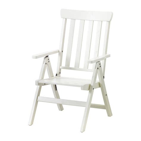 196 ngs 214 reclining chair outdoor foldable white ikea