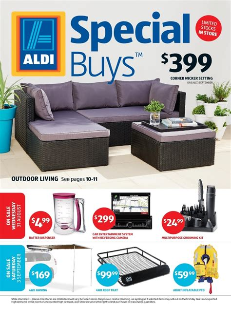 Aldi Patio Furniture 2017 by Aldi Catalogue Special Buys Week 35 2016