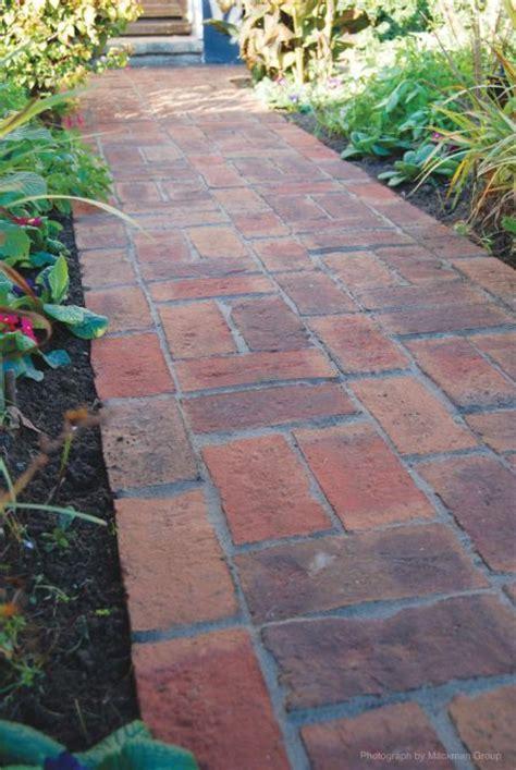 brick patterns patios and pathways brick path backyard