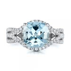 aquamarine wedding rings custom aquamarine and engagement ring 100895 bellevue seattle joseph jewelry