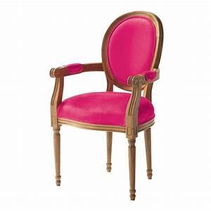 Fauteuil Suspendu Maison Du Monde : fauteuil cabriolet en coton fuchsia louis maisons du monde ~ Premium-room.com Idées de Décoration