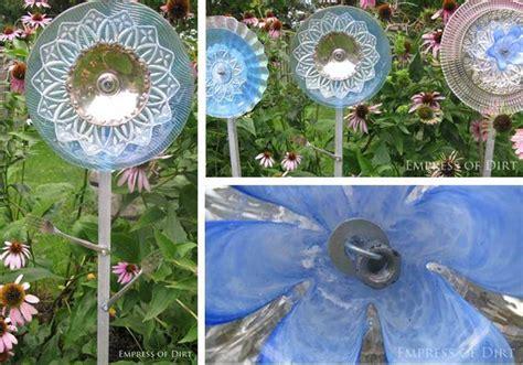 glass garden art flowers  drill  glass