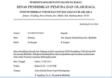contoh surat undangan resmi dinas kumpulan contoh surat