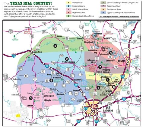 texas hill country map  cities regions hill