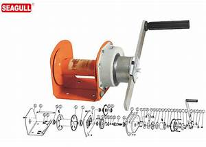 Portable Mini Manual Hand Winch 1 Ton With 8mm Wire Rope
