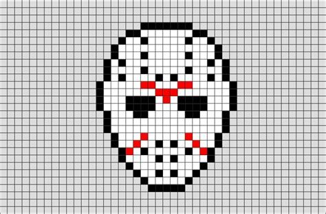 Friday The 13th Mask Pixel Art