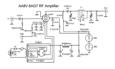 Air Temp Ga Furnace Wiring Diagram by The Aa8v 6ag7 Lifier Schematic Diagrams And Circuit