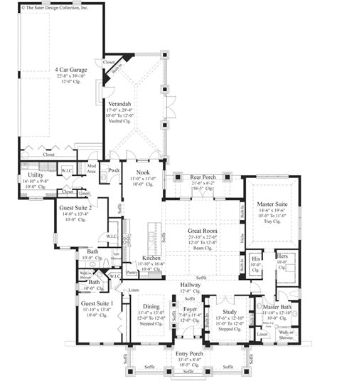 house plans bungalow style house plan 3 beds 3 50 baths 3108 sq ft