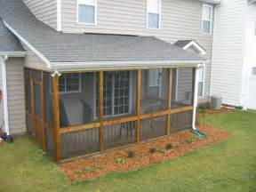 Patio Privacy Screen Idea Cozy Enclosed Back Porch Ideas
