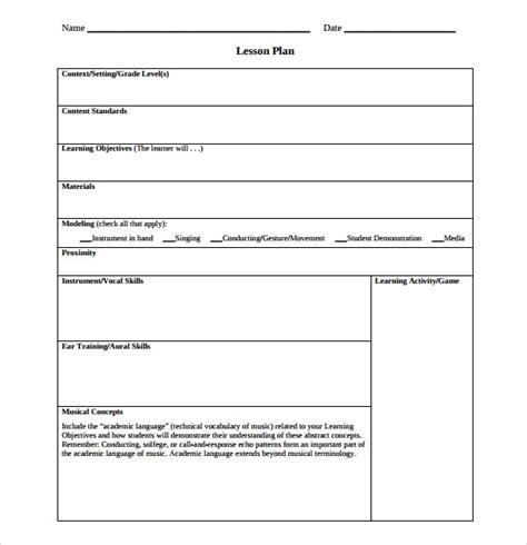 sample lesson plan outline sample lesson plan using content based instruction