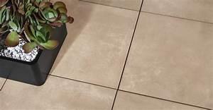 Carrelage Exterieur Epaisseur 2 Cm : dalle fusion tortora carrelage ext rieur 2 cm beige effet b ton carra france ~ Carolinahurricanesstore.com Idées de Décoration