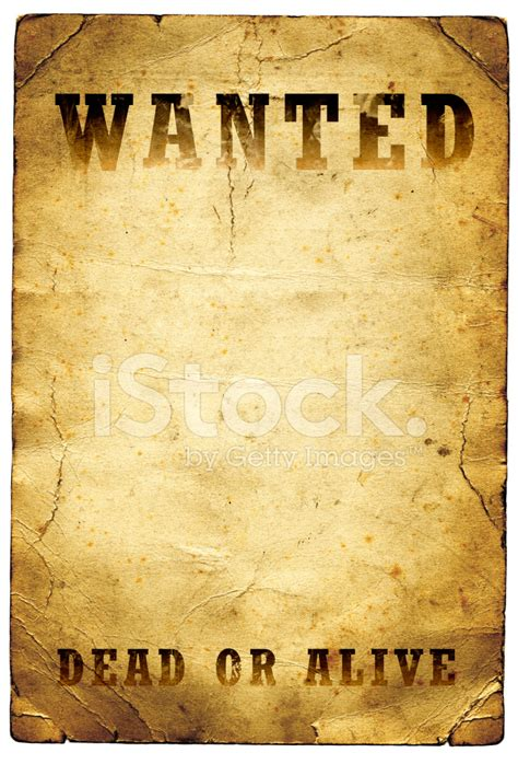 wanted dead  alive poster wild west stock