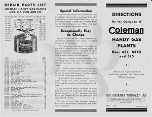Coleman Stove Instructions