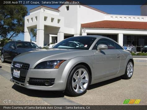 Sahara Silver Metallic Audi Coupe Black