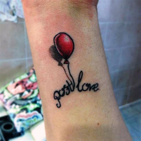decent balloon tattoos  wrist