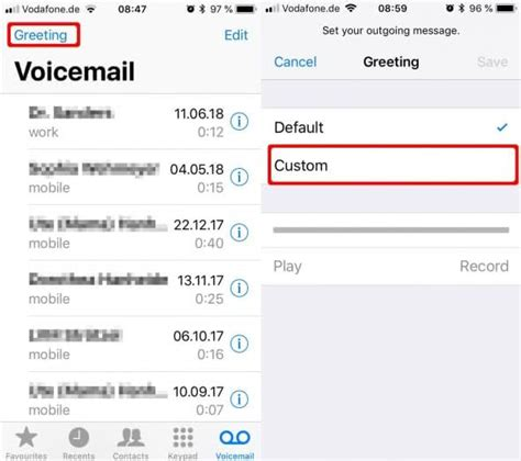 voicemail greeting  iphone   record iphone
