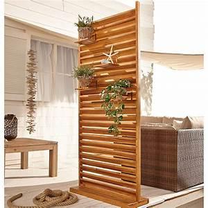 sichtschutz lamellen haus dekoration With französischer balkon mit relaxliege garten holz