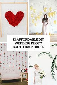 13 DIY Wedding Photo Booth Backdrops That Are Fun And