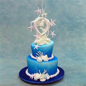 white cake stands wedding cake with dolphins nature wedding cakes