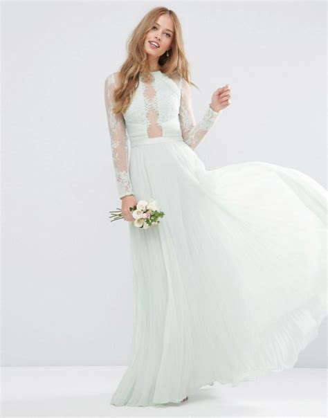 asos maxi pastelowa sukienka plisy koronka w suknie i sukienki szafa pl
